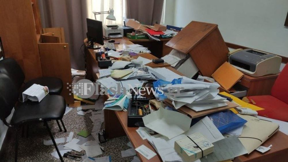 Χανιά: Σημαντικές υλικές ζημιές στο εσωτερικό και τα γραφεία του Εργατικού Κέντρου
