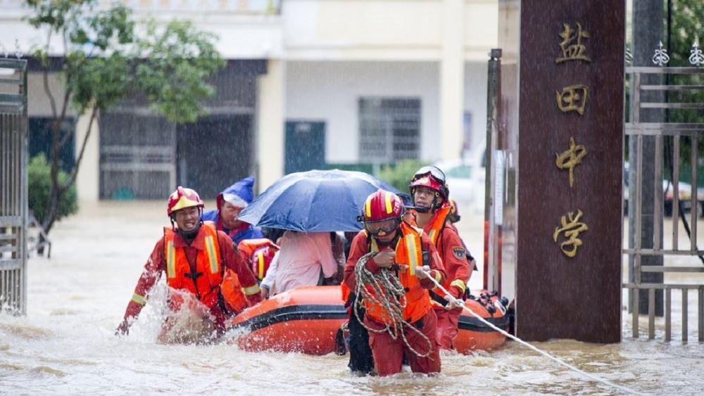 Κινα πλημμυρες