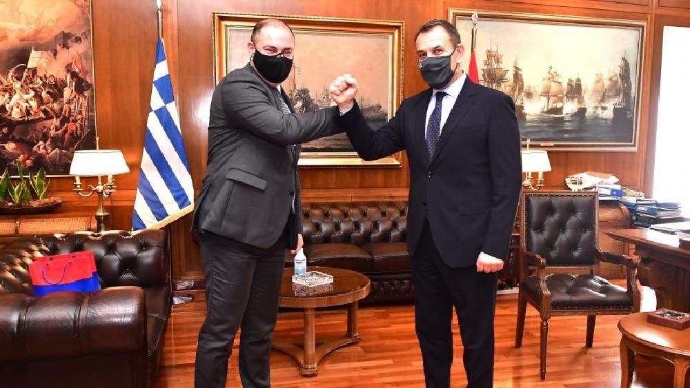 Συνάντηση Παναγιωτόπουλου με τον πρέσβη της Αρμενίας