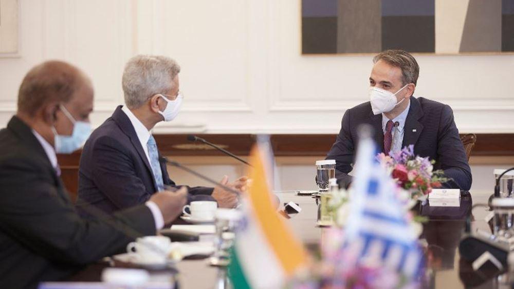 Με τον ΥΠΕΞ της Ινδίας συναντήθηκε ο Κ. Μητσοτάκης