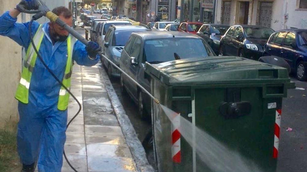 Δήμος Αθηναίων: Στην Κυψέλη η σημερινή επιχείρηση καθαριότητας