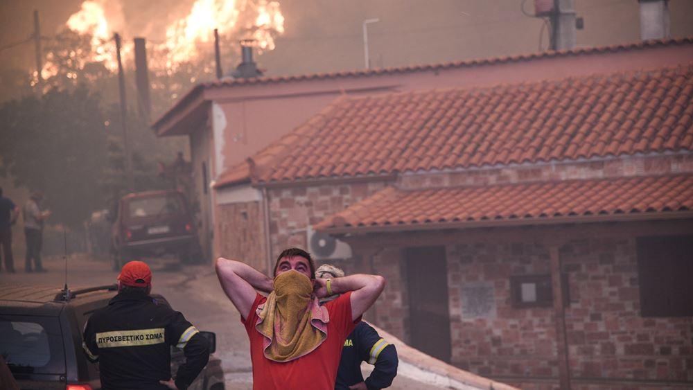 Meteo: Το χειρότερο σενάριο για την πυρκαγιά στην Εύβοια