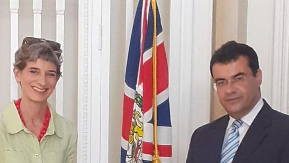 Συνάντηση Δημάρχου Ύδρας με την Πρέσβη της Βρετανίας