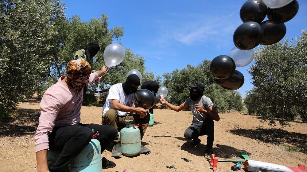 Ισραήλ: Αεροπορικές επιδρομές στη Γάζα σε αντίποινα για τα εμπρηστικά μπαλόνια κατά του ισραηλινού εδάφους
