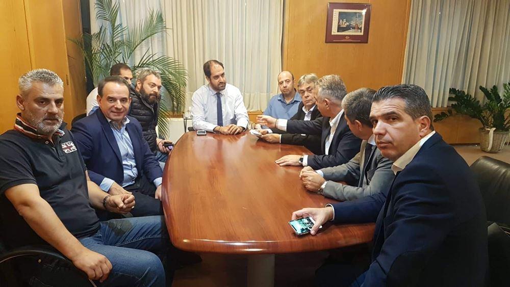 """Συνάντηση της """"Ενότητας"""" με τον υφυπουργό Υποδομών και Μεταφορών κ. Γιάννη Κεφαλογιάννη"""