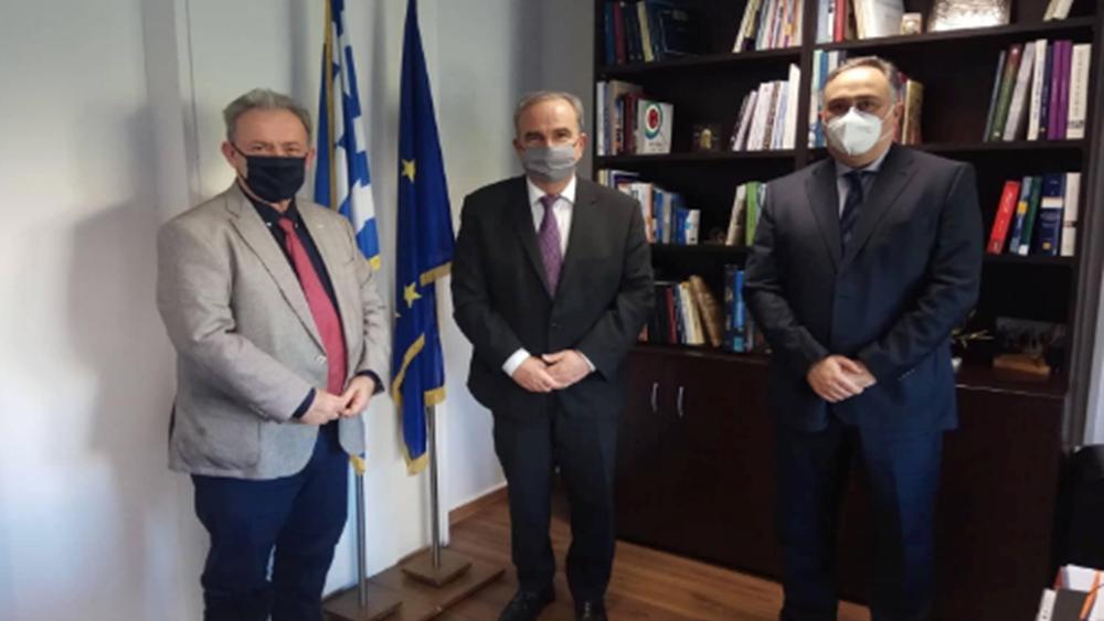 Με τον αναπλ. υπουργό Ανάπτυξης Ν. Παπαθανάση συναντήθηκε ο πρόεδρος του ΒΕΠ