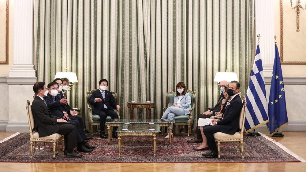 Συνάντηση ΠτΔ με τον Πρόεδρο της Εθνοσυνέλευσης της Δημοκρατίας της Κορέας