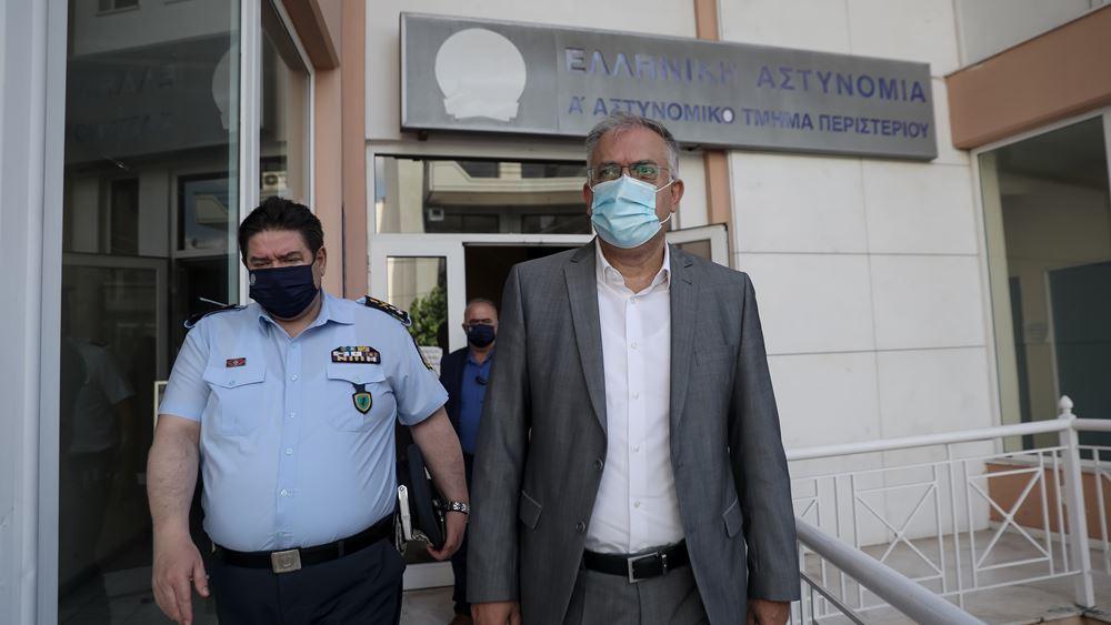Τα αστυνομικά τμήματα Περιστερίου και Ασπροπύργου επισκέπτεται ο Τάκης Θεοδωρικάκος