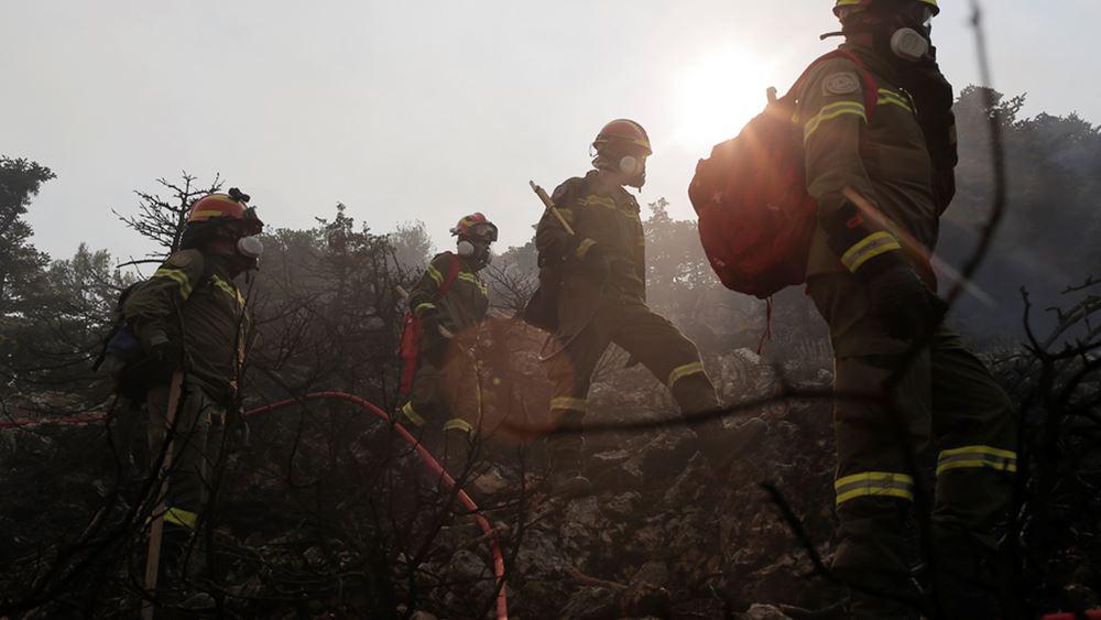 Βελτιώνεται συνεχώς η κατάσταση της πυρκαγιάς στην Αττικής