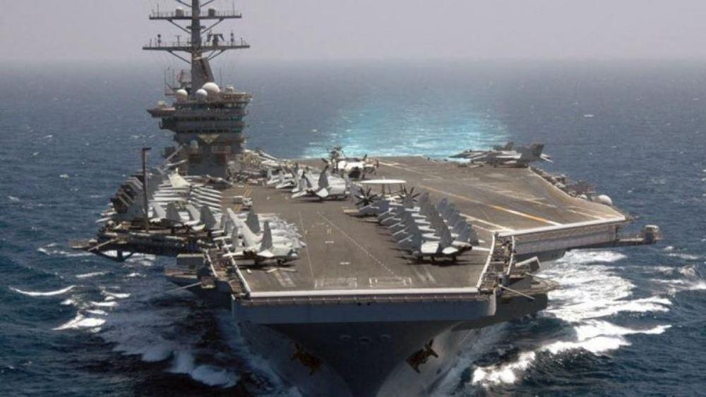 """Στην Κρήτη καταπλέει το αμερικανικό αεροπλανοφόρο """"Αϊζενχάουερ"""""""