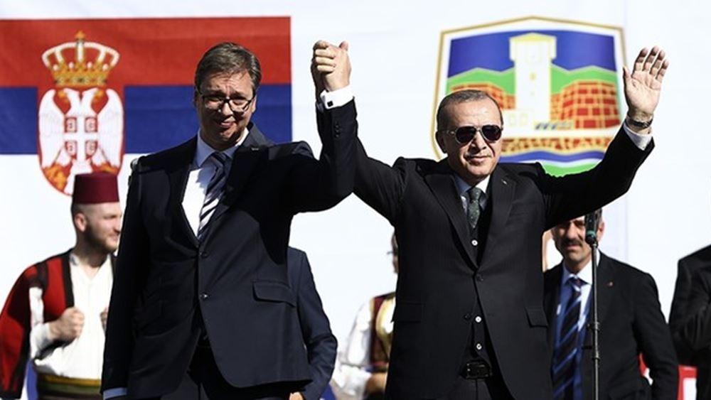 Στη Σερβία ο Ερντογάν, συνοδευόμενος από εκατοντάδες επιχειρηματίες