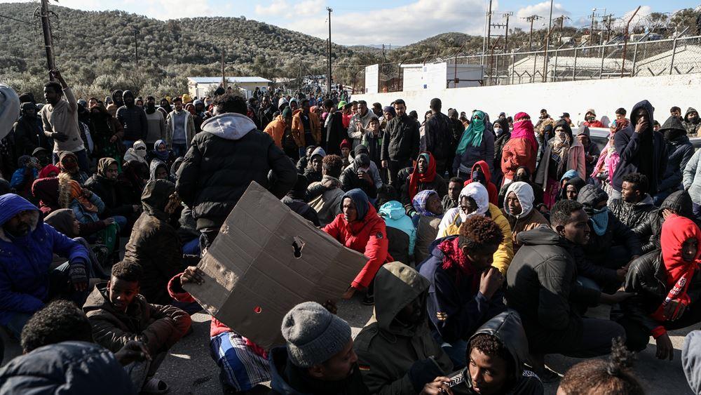 Μυτιλήνη: Διαμαρτυρία αιτούντων άσυλο για τη λήψη μέτρων για τον κορονοϊό