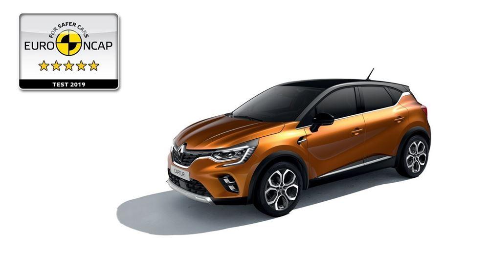 All-new Renault CAPTUR: Ηγέτης και στην ασφάλεια με 5 αστέρια Euro NCAP