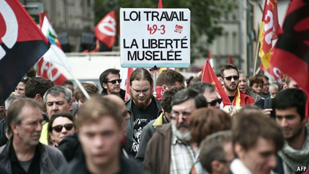 Γαλλία: Παραλύει η χώρα από τις απεργιακές κινητοποιήσεις