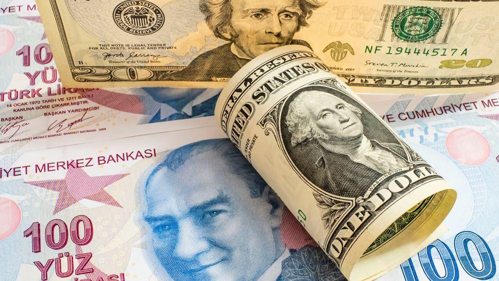 Η ισοτιμία δολαρίου - τουρκικής λίρας θα φτάσει στο 9,35 στα τέλη του 2021, λέει η τράπεζα MUFG
