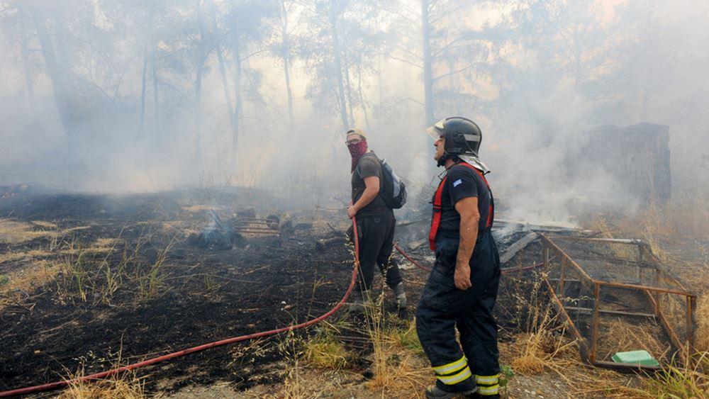Ρόδος: Τέθηκε υπό έλεγχο η αναζωπύρωση στην περιοχή Καλαμώνας