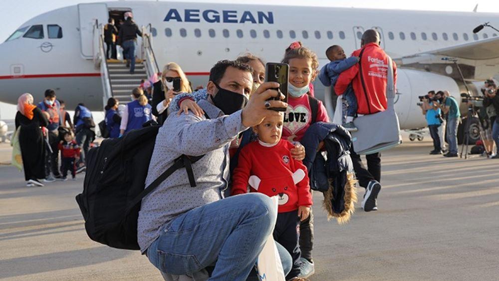 Αναχώρηση 101 αναγνωρισμένων προσφύγων για Γερμανία