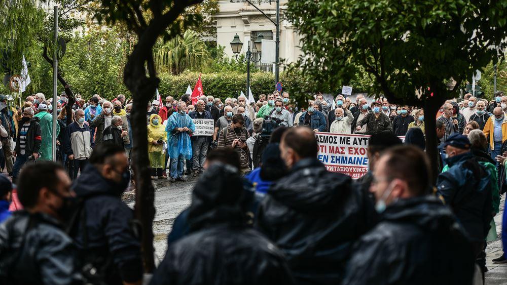 Συγκέντρωση συνταξιούχων για το ασφαλιστικό στο κέντρο της Αθήνας