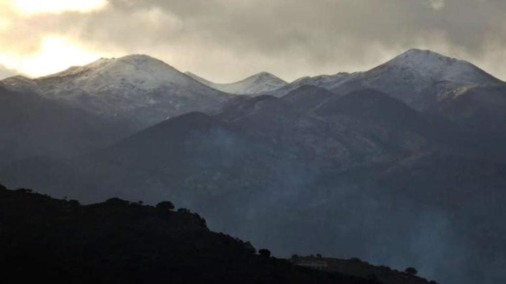 Χανιά: Σε λευκό κλοιό τα ορεινά των Λευκών Ορέων