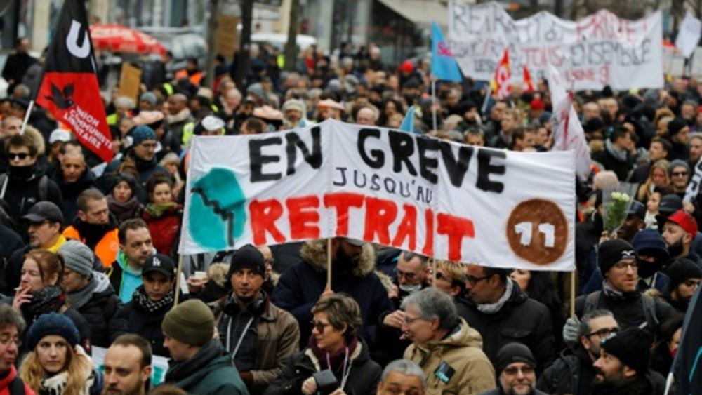Διαδηλώσεις στο Παρίσι ενάντια στη μεταρρύθμιση του συνταξιοδοτικού συστήματος