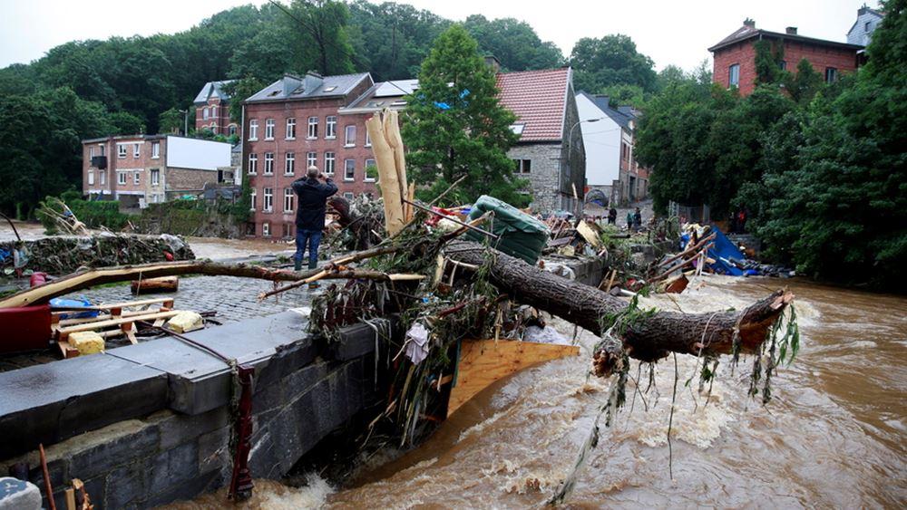 Βέλγιο: Η πόλη Ντινάν χτυπήθηκε από τις χειρότερες εδώ και δεκαετίες πλημμύρες