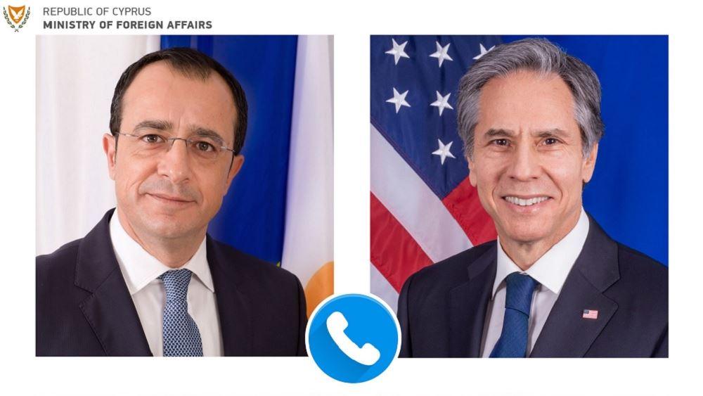 Κύπρος: Τηλεφωνική επικοινωνία Χριστοδουλίδη με τον Μπλίνκεν
