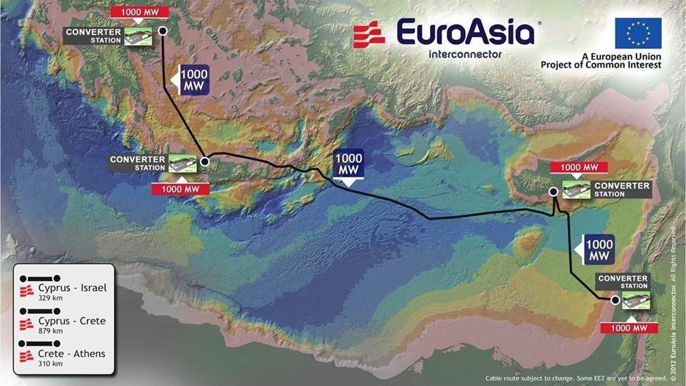 Κύπρος: Πράσινο φως για τον κομβικό σταθμό μετατροπής υψηλής τάσης EuroAsia Interconnector