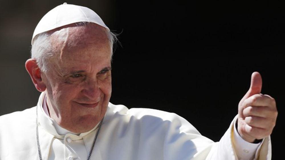 Ο Πάπας Φραγκίσκος δωρίζει 100.000 ευρώ για τους μετανάστες