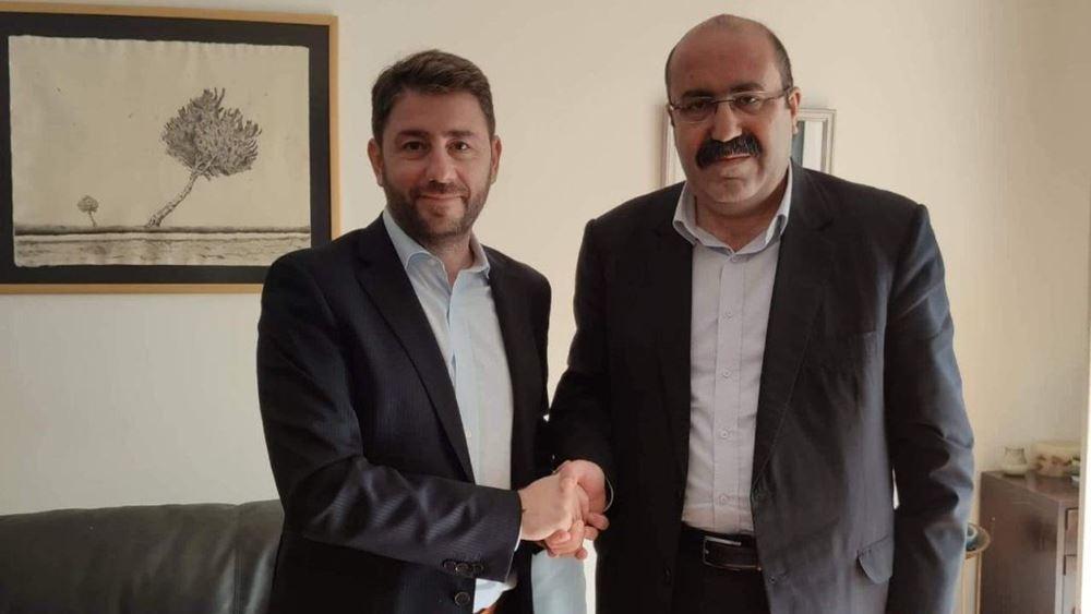 Συνάντηση Ανδρουλάκη με τον συν-πρόεδρο του κόμματος των Κούρδων της Συρίας