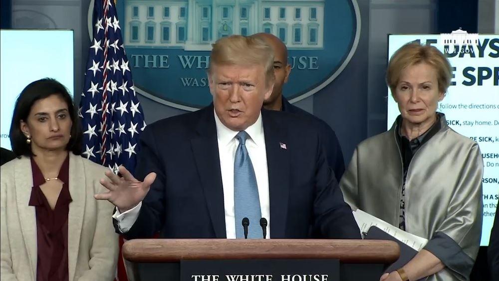 """Η δήλωση Τραμπ ότι οι ΗΠΑ """"ίσως"""" βαίνουν προς ύφεση """"βύθισε"""" τον Dow 3.000 μονάδες"""