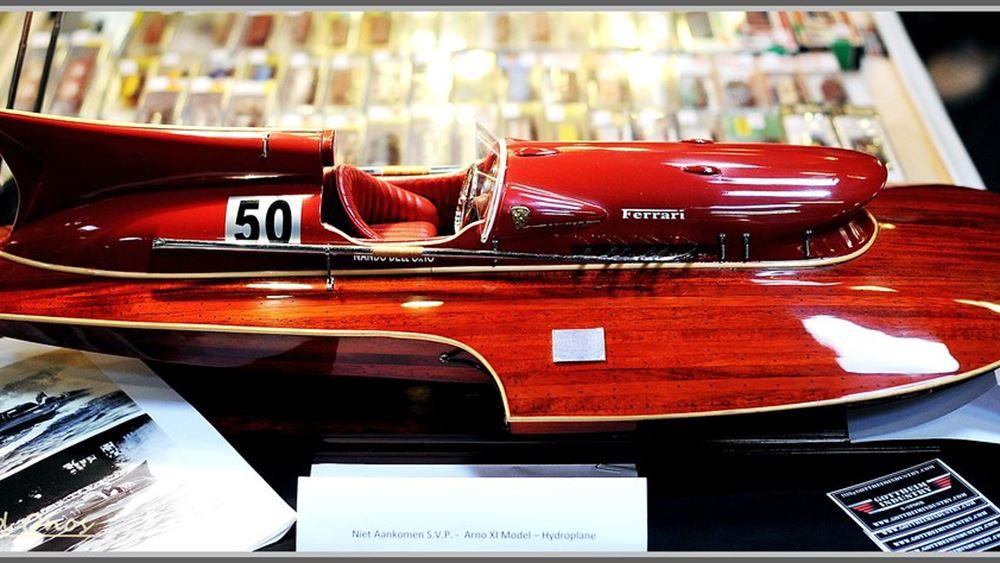 Προς πώληση το μοναδικό αγωνιστικό ταχύπλοο σκάφος με κινητήρα Ferrari