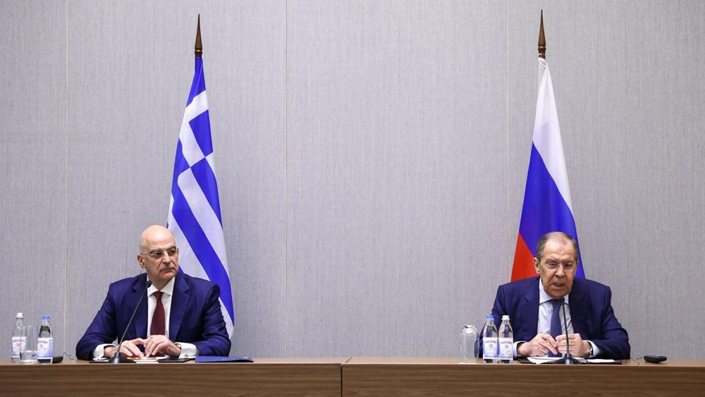 Ν. Δένδιας: Επιθυμία της Ελλάδας η αποκατάσταση των σχέσεων ΕΕ - Ρωσίας