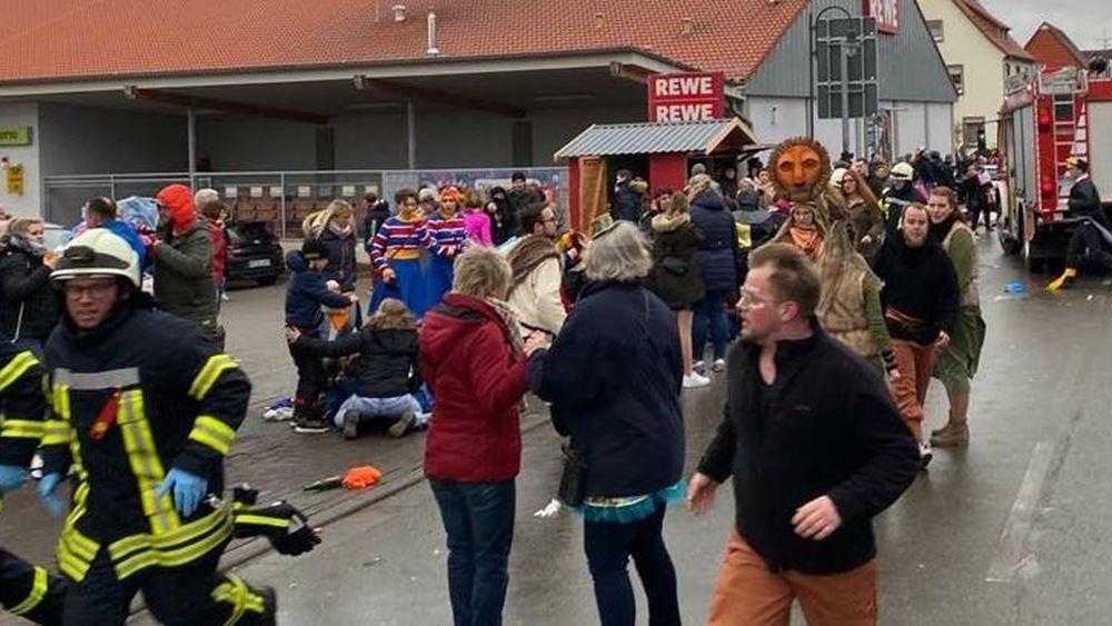 Αυτοκίνητο έπεσε πάνω σε καρναβαλιστές στη Γερμανία: Περισσότεροι από 30 τραυματίες