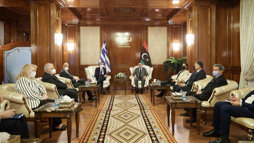 Δένδιας: Η Ελλάδα θα στηρίξει την ανασυγκρότηση της Λιβύης