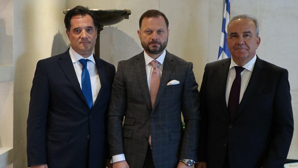 Συνάντηση Γεωργιάδη - Παπαθανάση με τον πρόεδρο του ομίλου ΟΝΕΧ Πάνο Ξενοκώστα