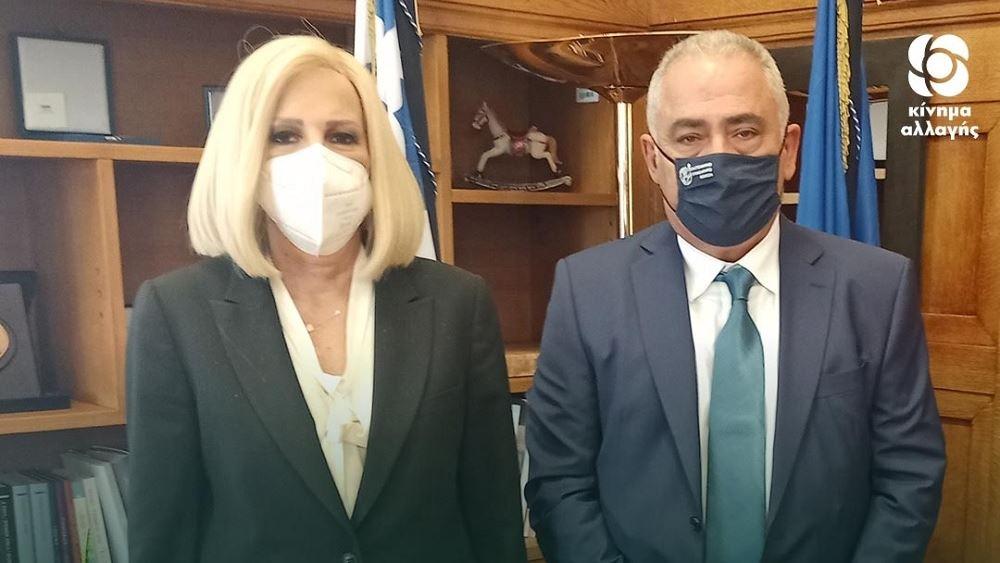 Συνάντηση Γεννηματά με τον νέο πρόεδροτης ΚΕΕ Γ. Χατζηθεοδοσίου