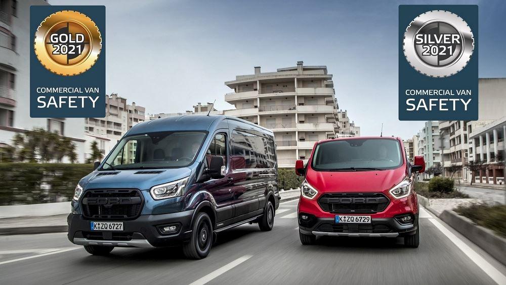 Διακρίσεις για τα Ford Transit και Transit Custom στον Euro NCAP
