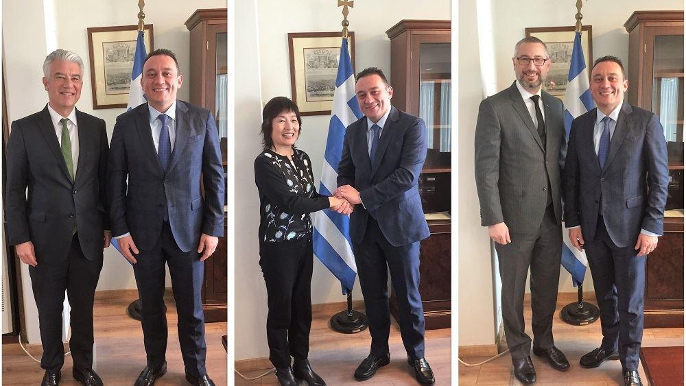 Συναντήσεις Κ. Βλάση με Πρέσβεις Κίνας-Γερμανίας-Αυστραλίας