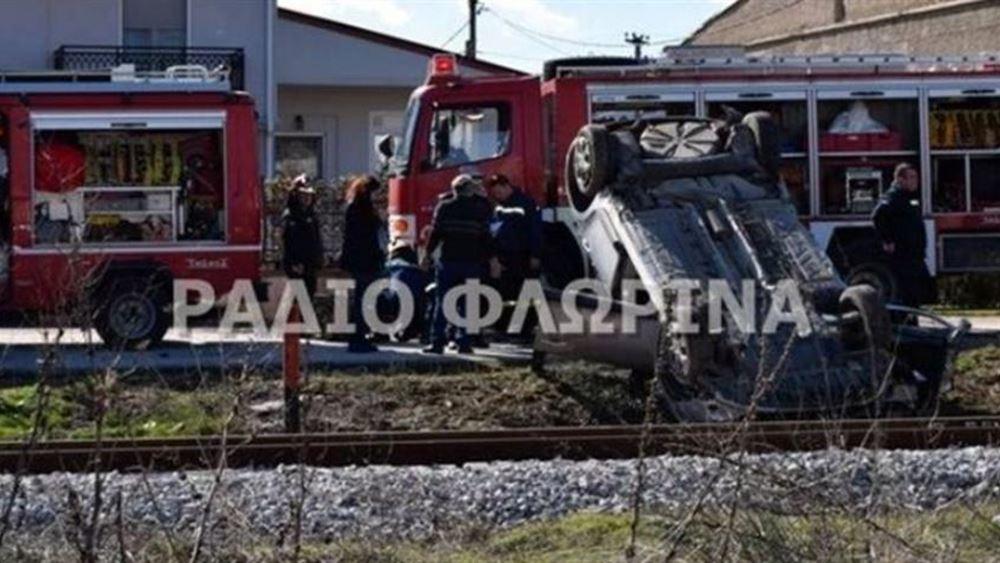 Σφοδρή σύγκρουση τρένου με αυτοκίνητο στη Φλώρινα