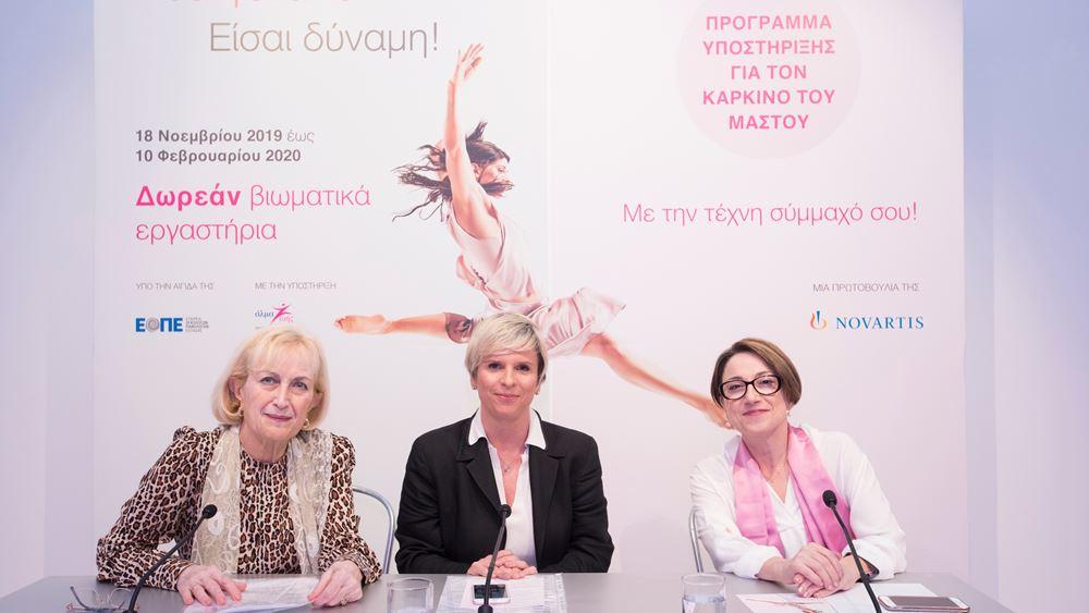 Δωρεάν βιωματικά εργαστήρια για γυναίκες με καρκίνο του μαστού