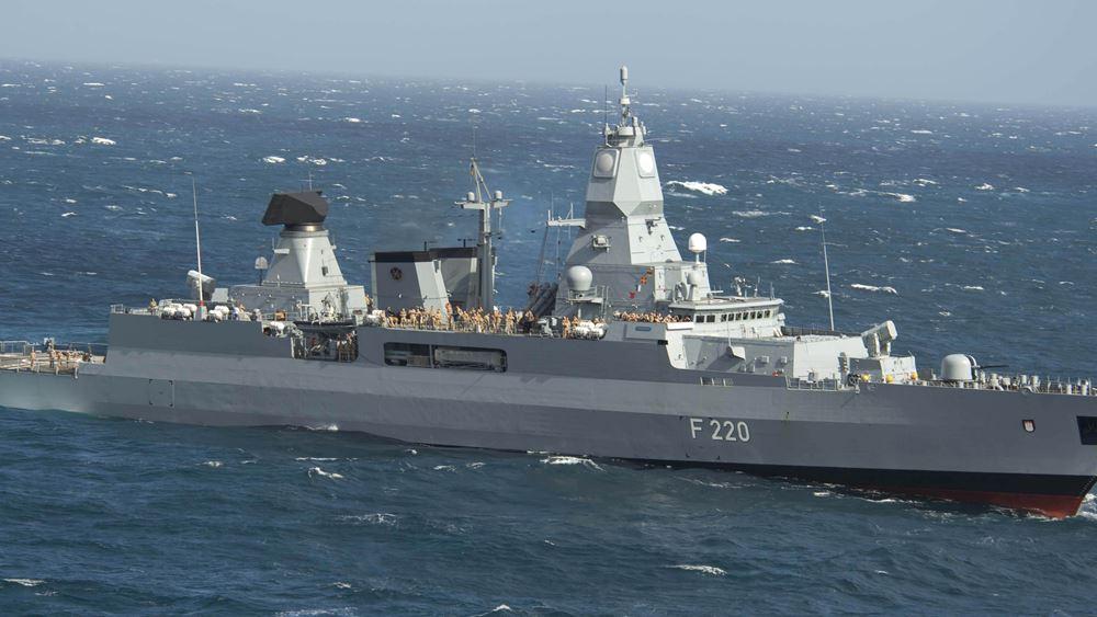 """Αποπλέει αύριο το πρωί η γερμανική φρεγάτα """"Hamburg"""" για να ηγηθεί της αποστολής """"Ειρήνη"""" στη Λιβύη"""