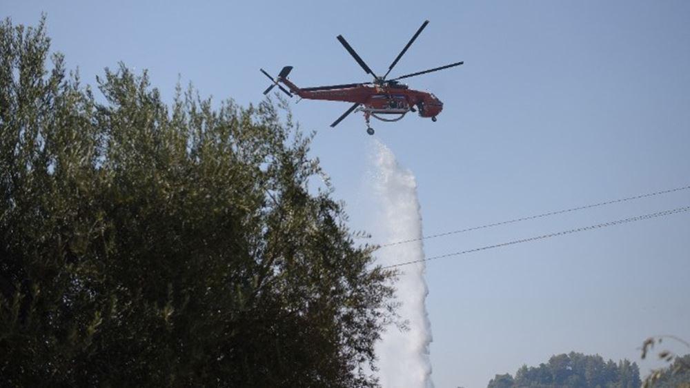 Υπό μερικό έλεγχο η πυρκαγιά στο Μαρκόπουλο