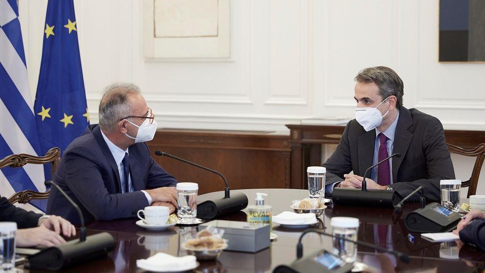 Συνάντηση Μητσοτάκη-Νεοφύτου - Επί τάπητος οι ευρωτουρκικές σχέσεις