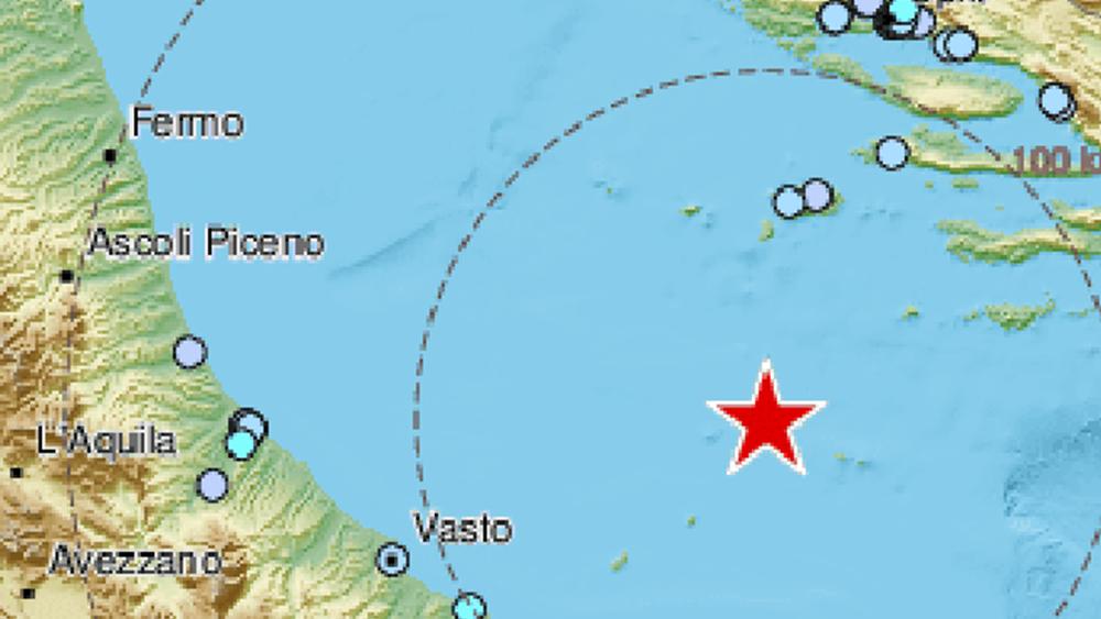 Ισχυρή σεισμική δόνηση στην Αδριατική ταρακούνησε Ιταλία και Κροατία