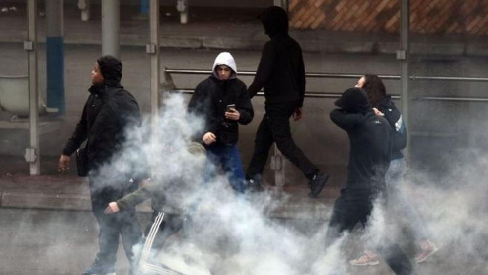 Επεισόδια και δακρυγόνα στο Παρίσι στη διαδήλωση κατά του νέου συνταξιοδοτικού συστήματος
