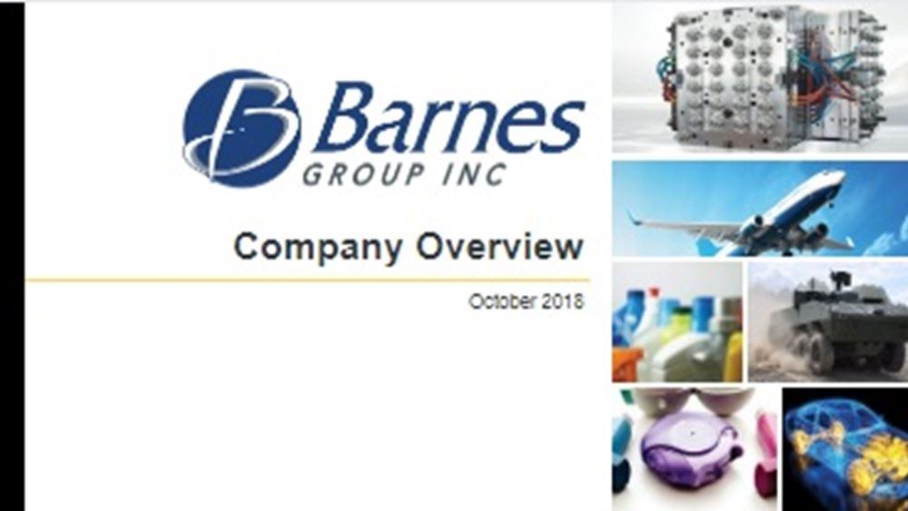 Barnes Group: Αυξήθηκαν τα κέρδη στο γ΄ τρίμηνο
