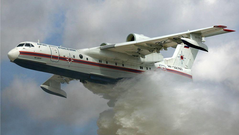 Αναλαμβάνει πυροσβεστικό έργο στην Ελλάδα το αμφίβιο αεροσκάφος Beriev-200, σύμφωνα με τη ρωσική Rostec