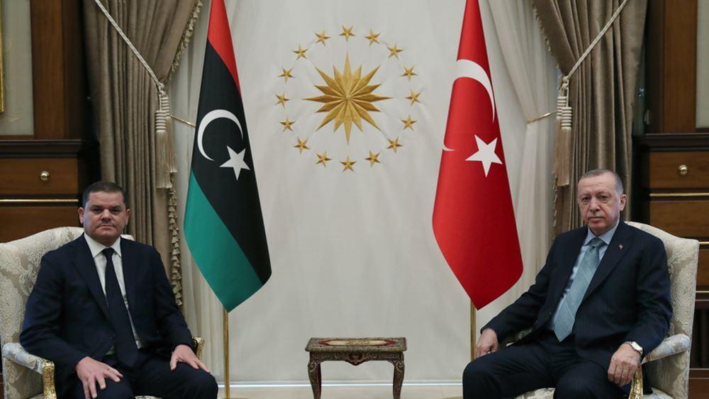 """Ερντογάν-Ντμπέιμπα υπέγραψαν 5 συμφωνίες: """"Επιβεβαιώσαμε τη δέσμευσή μας στο τουρκο-λυβικό μνημόνιο"""""""