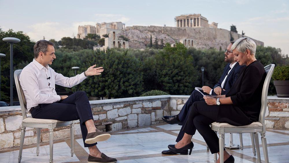 Μητσοτάκης σε Bild: Εφέτος η Ελλάδα θα έχει διπλάσιους τουρίστες από το 2020