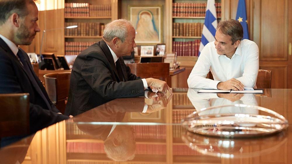Συνάντηση Μητσοτάκη - Sawiris